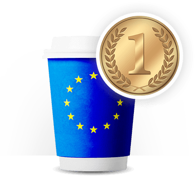 De hoogste Europese kwaliteit bedrukte bekers